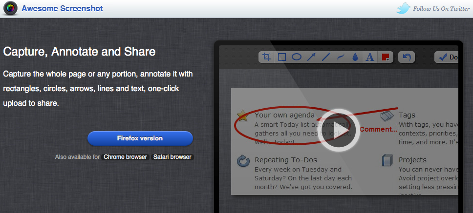 Awesome Screenshot - Capture Annotate and Share