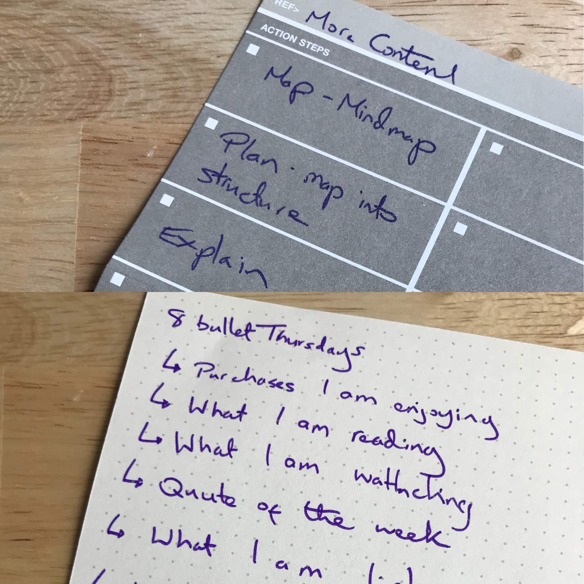 Action Pad Ideas